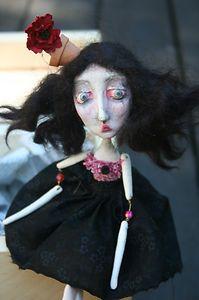 Doll inspired Art Doll   Halloween Decoration   Neil Gaiman Tim Burton
