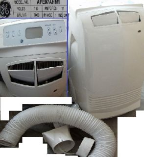 479 GE Portable Air Conditioner APE07ahm1 with Hose Kit & Manual Book