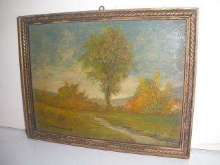 Landscape Scene Oil Painting Listed American F Norton Gesner