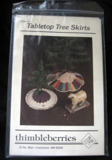 Thimbleberries Table Tree Skirt Pattern Quilt Craft Christmas