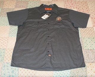 Galena Brewing Co Gray Work Shirt Sz XL by Dickies New