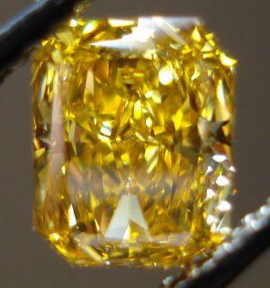 Orange Yellow Radiant VS2 GIA Amazing R3463 Diamonds by Lauren