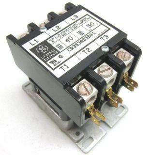 General Electric CR353AD3BA1 Contactor 40 Amp 3 Pole Contactors Relay