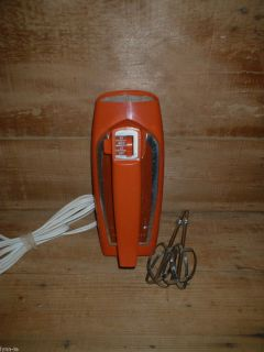Vtg General Electric Mid Century Modern Retro Hand Mixer 3 Speed No