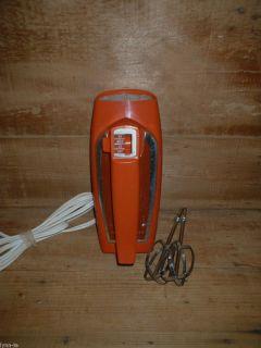 Vtg General Electric Mid Century Modern Retro Hand Mixer 3 Speed No