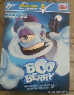 New Unexpired General Mills Boo Berry Cereal