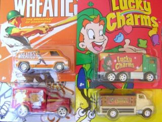 Hot Wheels 2012 Nostalgia GENERAL MILLS CEREAL Set of 4 Hauler, 51 GMC