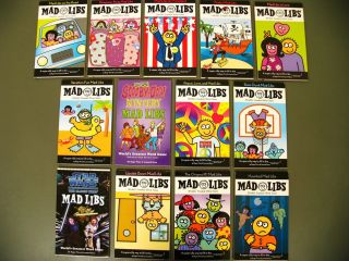 Lot 13 Mad Libs Word Game kids travel books fun car set Roger Price