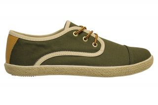 Generic Surplus Mens Wino CVS M21W101 Green Lace Up Fashion Sneakers