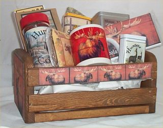 Moose Wood Crate Gift Basket Lodge Fun Gift Men Gifts