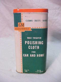 Vintage 1950s Chevrolet GM General Motors Accessories Polishing Cloth