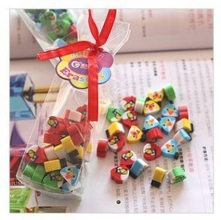 Angry Bird Mini Eraser Erasers Stationery Kids Gift Party Favor