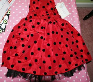 Me Girl Holiday Girls Dress Sz 6X Dots Thanksgiving Christmas GIFT