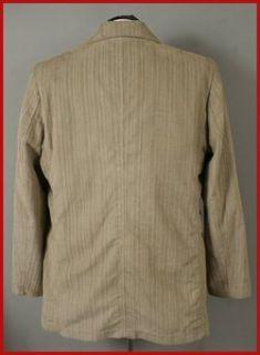 Geoffrey Beene Mens Khaki Corduroy Blazer Jacket XL 46