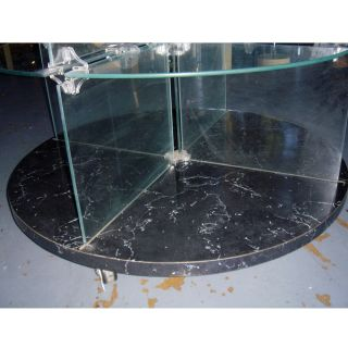 round glass display unit tall round glass display unit or etagere