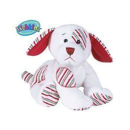 GANZ Webkinz Peppermint Puppy Christmas Stuffed Animal PLUSH Toy SAME