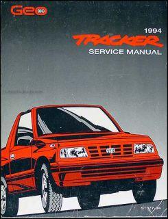 1994 Geo Tracker and LSI Factory Repair Shop Manual Original Chevrolet