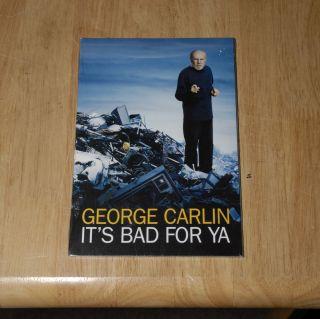 George Carlin Its Bad for Ya Brand New SEALED Emmy Screener DVD Mint