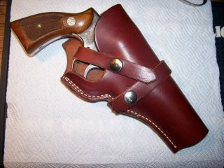 George Lawrence leather pistol holster 543 Smith Wesson K frame 4 RH
