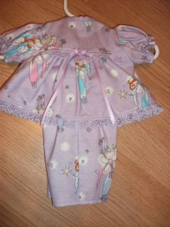 16 Cabbage Patch Doll Clothes Girls Fairy Princess Pajamas Set