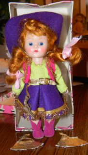 Ginny Vintage Purple Cowgirl Outfit with Doll Box