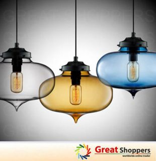 New Modern Contemporary Color Glass Ball Ceiling Light Pendant Lamp