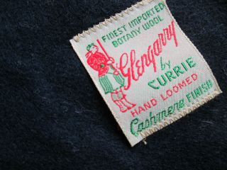 Glengary by Currie solid navy finiest Botany wool cashmere finish