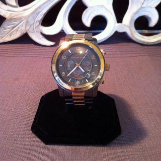 Michael Kors Mens Rose Gold Gunmetal Oversized Chronograph 45mm MK8189