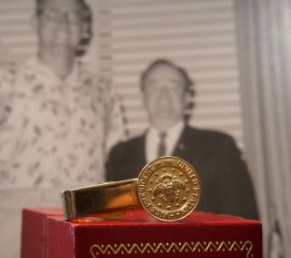 VICE PRESIDENT OF THE UNITED STATES PIN PRESENTED TO GEORGE MIKAN 1965