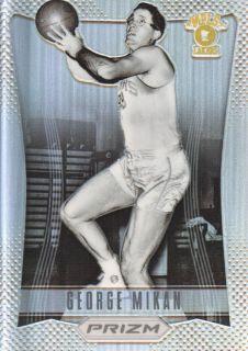13 Panini Prizm Prizms Refractor #173 George Mikan Minneapolis Lakers