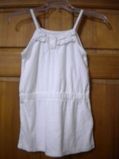 Joe Boxer Girls Size Medium 7 8 White Terry Cloth Swimsuit Coverup