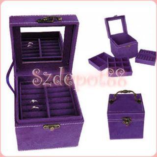 Pretty Girls Treasure Jewelry Box Storage Case w Mirror