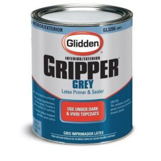 High Quality Paint Primer Glidden Gripper 1 Qt Latex Gray Interior