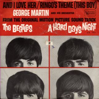 George Martin Hard Days Night Picture Sleeve 7 Beatles