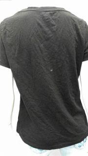 George Ladies Womens L Comfort Short Sleeve V Neck T Shirt Tee Black