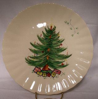 BLUE RIDGE Pottery CHRISTMAS TREE Dinner Plate