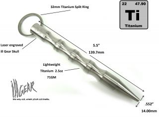 Ill Gear V2 TI Kubotan Self Defence Titanium Survival Tool EDC