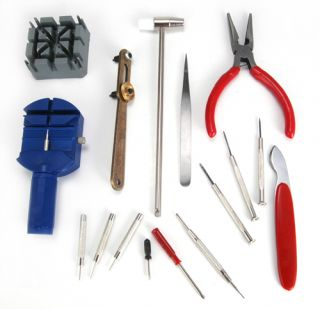 16 Pcs★watch Repair Strap Tool Kit Adjust Screwdrivers