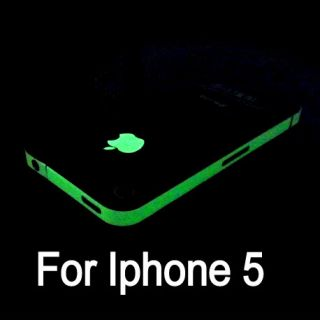 Glow in the dark Edge skin Luminous Sticker apple logo film for iPhone