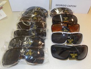 Pair 1 Dozen Resale Womens Large Sunglasses Georgio Caponi KFS3