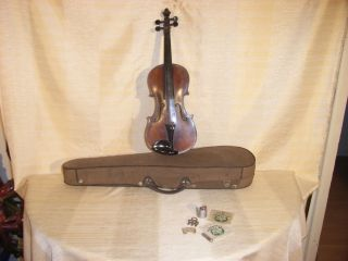 Old Violin Labeled Joannes Georgius Fecit Vienna Anno 1828