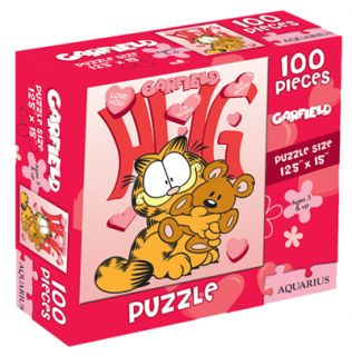 Garfield the Cat Cute Holding Pooky 100 Piece Jigsaw Puzzle 2011, NEW