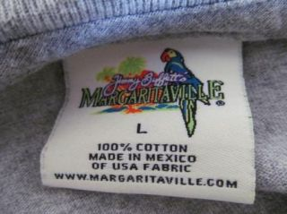 Jimmy Buffet Margaritaville Gray Las Vegas T Shirt Captain Graphic Tee