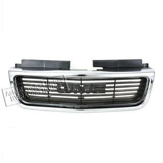98 04 GMC Sonoma Jimmy Sle SLT Bright Argent Front Grille Grill
