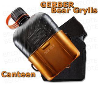 Gerber Bear Grylls Survival Canteen w/ Aluminum Cup & Nylon Sheath 31