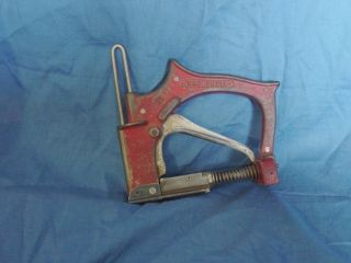 Vintage Red Devil Glazer Dimond Shape Staple Gun