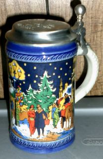 German Beer Stein 1979 Munich Christmas Fair Lidded