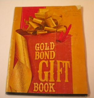 1962 Gold Bond Stamps Gift Book Catalog