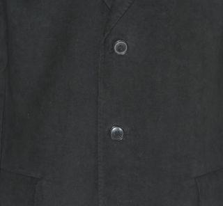 Cappotto in VELLUTO liscio di cotone color nero. Pezzo importantissimo