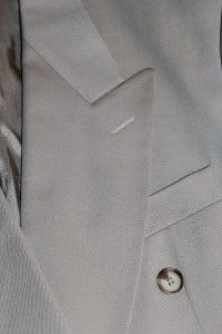 Gianni Manzoni 42L Beige Double Breasted Merino Wool Sport Coat
